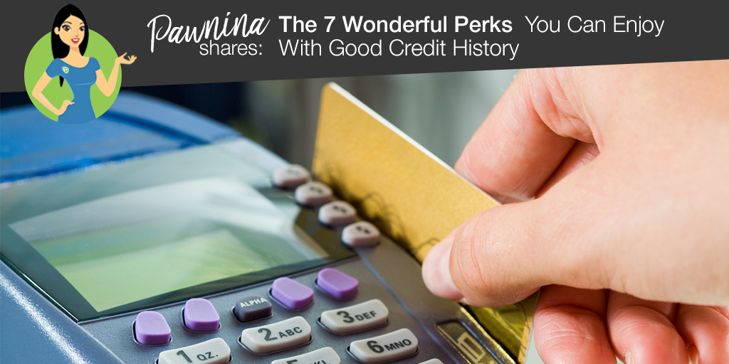 Pawnina Shares: The  7 Wonderful Perks You Can Enjoy With Good Credit History