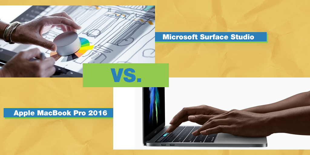 The Battle For The Best: Microsoft Surface Studio Versus Apple MacBook Pro 2016
